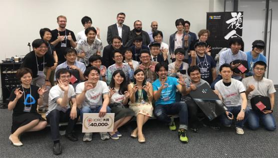 Participants of the Japan VR Hackathon sponsored by Perception Neuron motion capture.